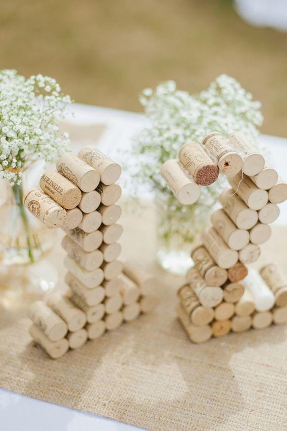DIY Tapones de corcho para hacer letras o números