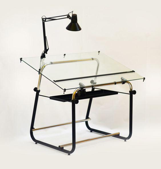 Mesa de dibujo t cnico c tablero de vidrio arquitectura - Mesas de arquitecto ...
