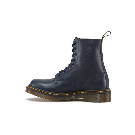 Dr. Martens Pascal Lace Low Boot ($135) ❤ liked on Polyvore featuring shoes, boots, ankle booties, dress blues, lace boots, dr. martens, lacy boots, dr martens boots and slip resistant boots