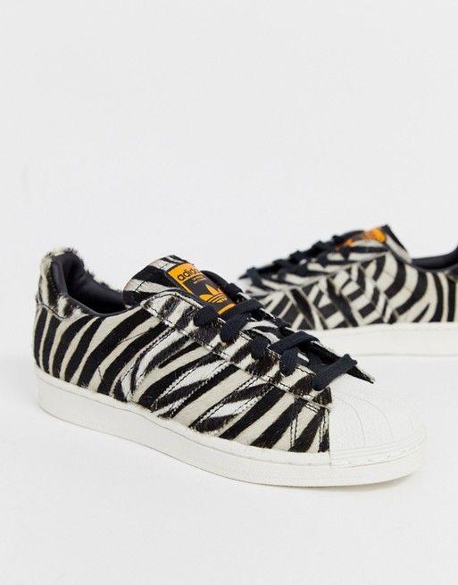adidas Originals Superstar trainers in zebra print in 2020