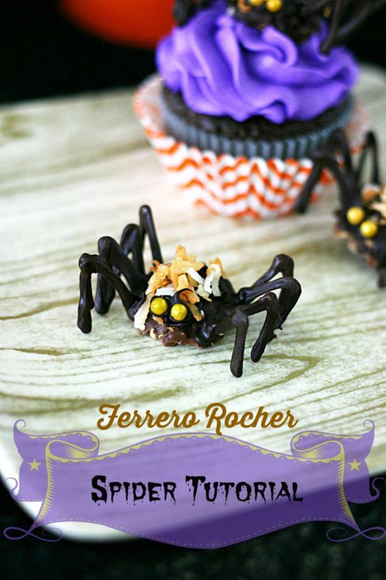 Ferrero Rocher Chocolate Spider Tutorial / Dessert Ideas For a Perfect Halloween