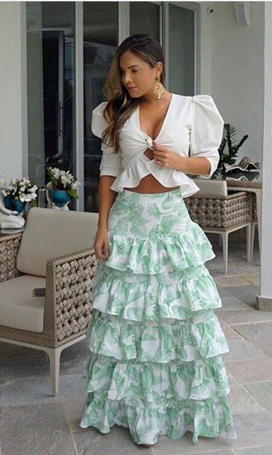 Pin De Candyroguz En Floralies Faldas Largas De Vestir Moda Faldas Moda Con Faldas Largas