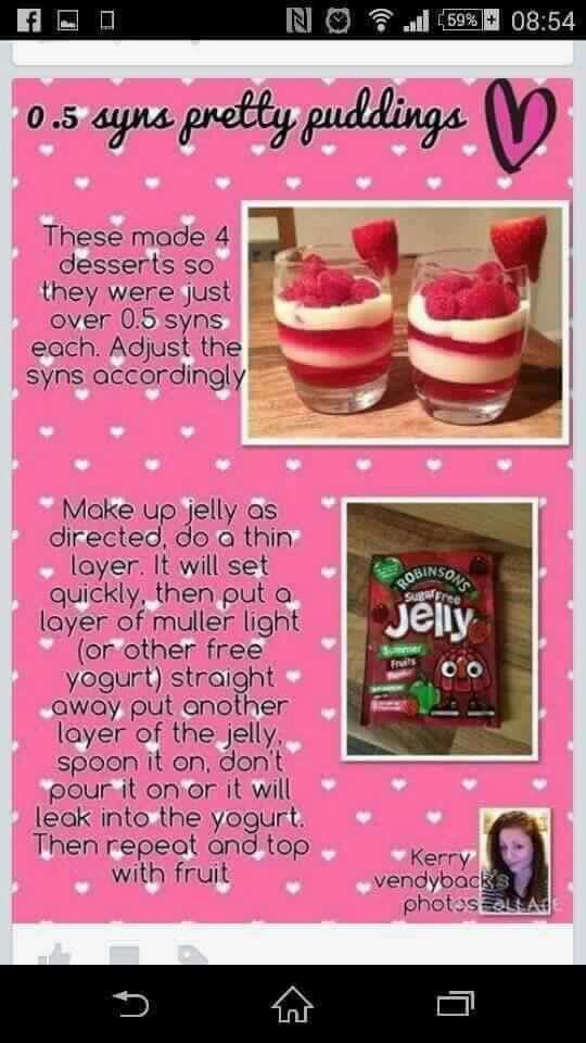 Slimming world, Jelly and Puddings on Pinterest