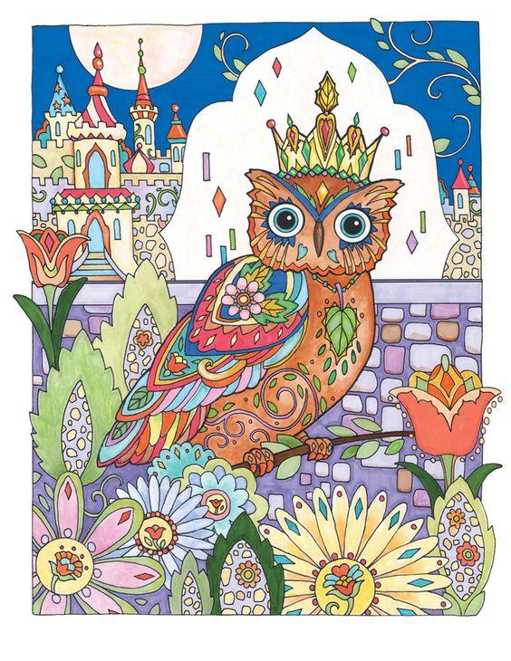Creative Haven Owls Coloring Book By Marjorie Sarnat Owl