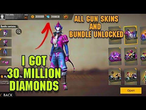 Free 30million Diamonds All Bundles And Weapon Unlocked Free