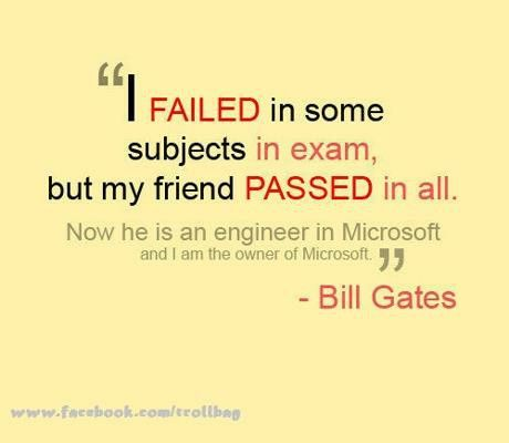 What specific examples prove that Failure is/isn't Educational?