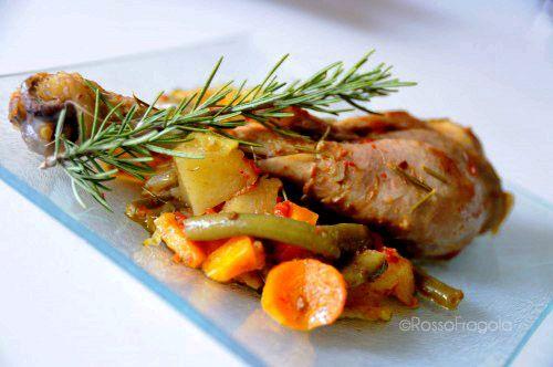 Pollo aromatico all'ortolana