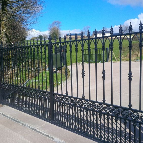 Automated driveway gates with GSM intercom system