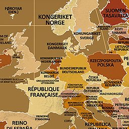 Endonym Map World Map of Country Names in Their Local Languages
