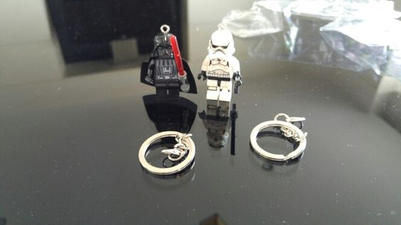Stormtrooper & Darth Vader Lego-Style Keychains