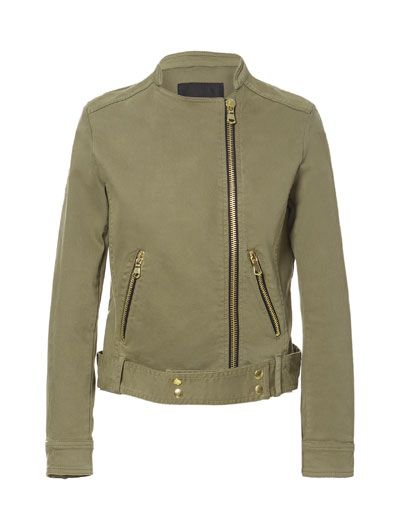 Image 6 of COTTON JACKET WITH ZIPS from Zara
