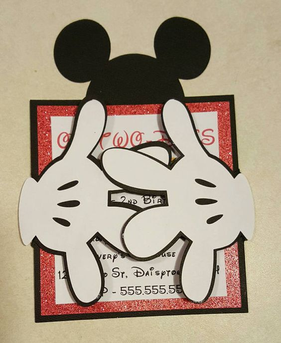 Mickey and Minnie Mouse inspired Invitations by AshleyKreations