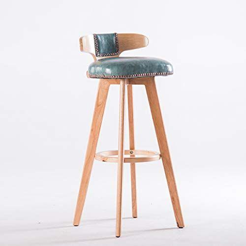 Fkdebar Wood White Bar Stool Bar Chair High Stool Swivel Chair With Backrest 60 70 80cm Color D Size 8050cm Retro Bar Stools High Stool Bar Stools