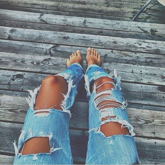 Old worn out jeans you can't duplicate :)