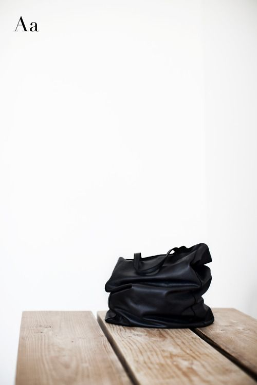 Leather tote designed by Aa. Photo by Glen Allsop.