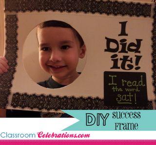 Classroom Celebrations: DIY Success Frame