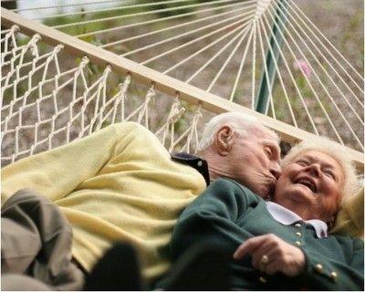 ADORABLE elderly couple.