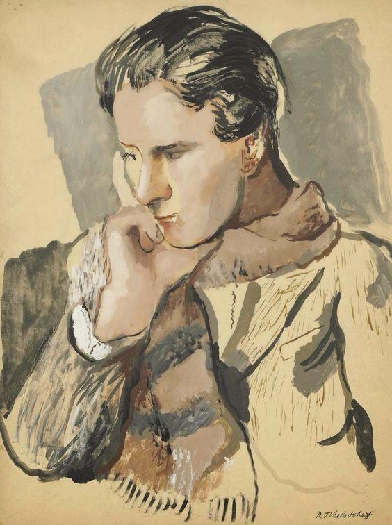 Portrait of Allen Tanner by Pavel Tchelitchew ( Russian, 1898-1957)