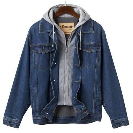 Domini Hooded Denim Jacket - Men | Clothes to Look For | Pinterest
