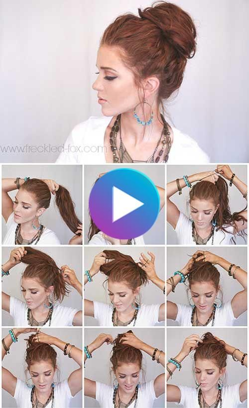 20 Stunningly Easy Diy Messy Buns In 2020 Messy Hairstyles Bun Hairstyles For Long Hair Cute Bun Hairstyles