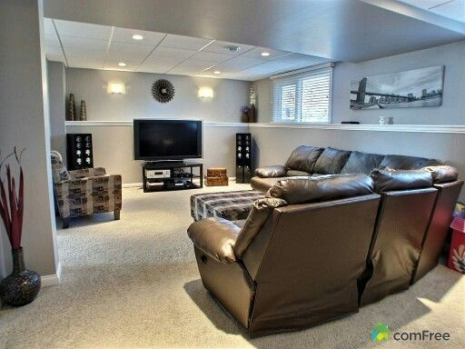 Split level bi level basement living room home ideas for Basement entry ideas