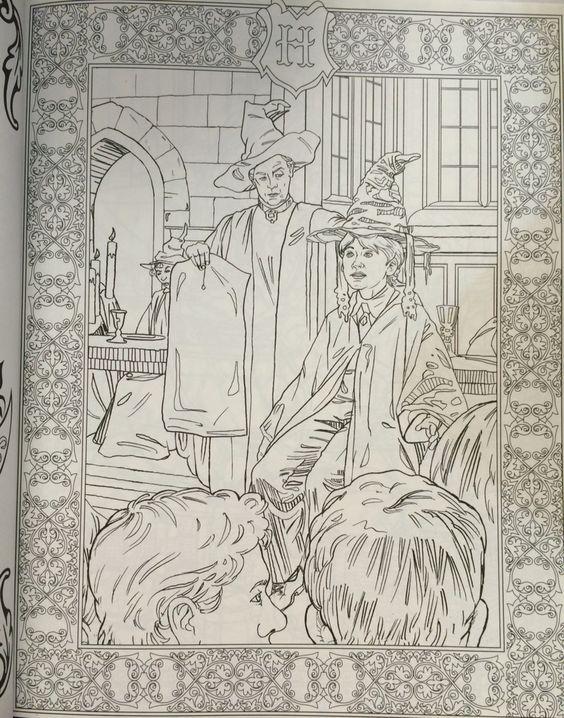 Livro de color do Harry Potter
