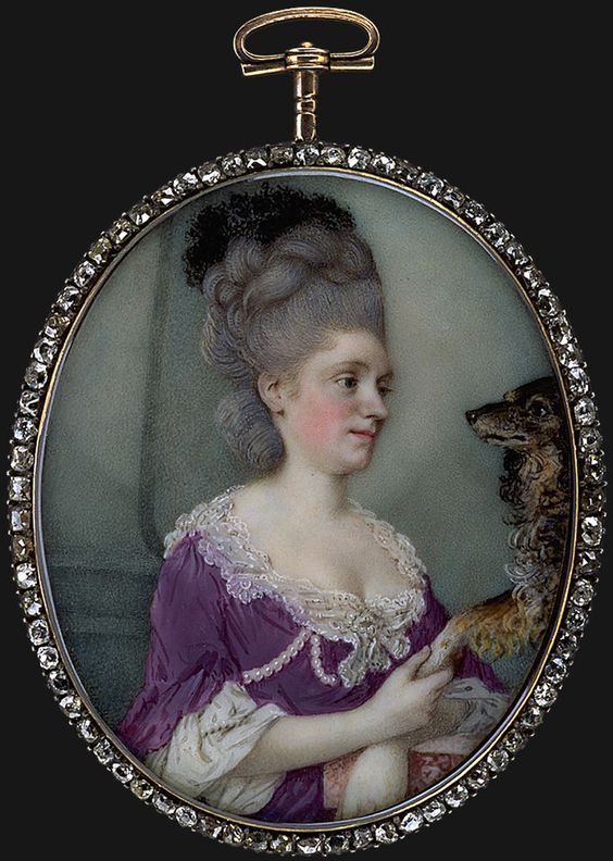 Monogramist V (ascribed), c. 1775 - - - Young Lady with Grey Powdered Hair:
