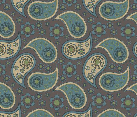 paisley fabric by suziedesign on Spoonflower - custom fabric