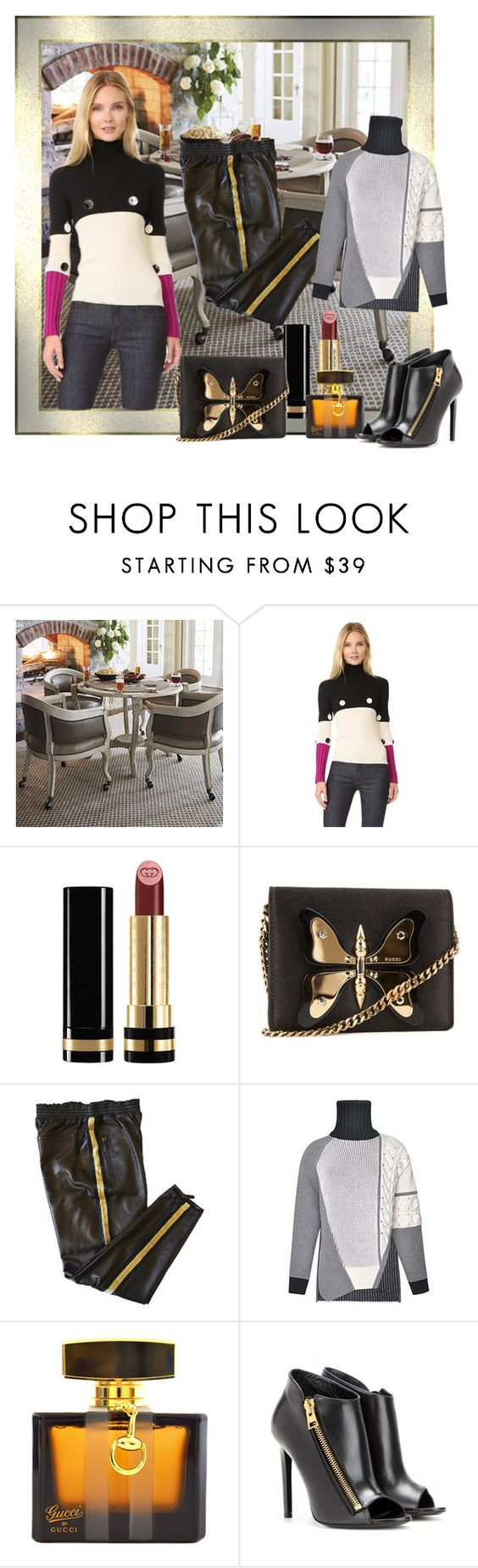 """""""comfy"""" by snowmoon ❤ liked on Polyvore featuring Frontgate, Salvatore Ferragamo, Gucci, Emilio Pucci, Prabal Gurung and Tom Ford"""