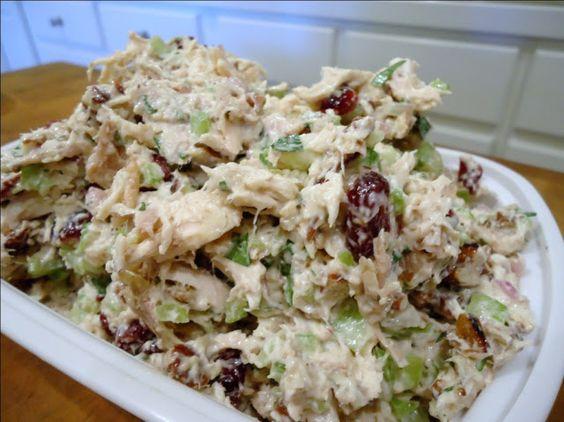 Tarragon Chicken Salad with Pecans and Cranberries