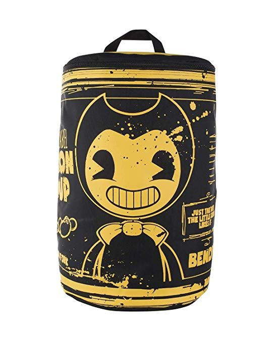 Bendy And The Ink Machine Backpack Black Bendy Bacon Soup Can