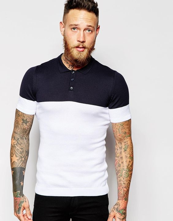 ASOS Knitted Short Sleeve Polo
