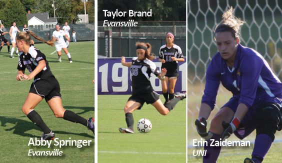 UNI's Erin Zaideman is the Goalkeeper of the Week for conference.