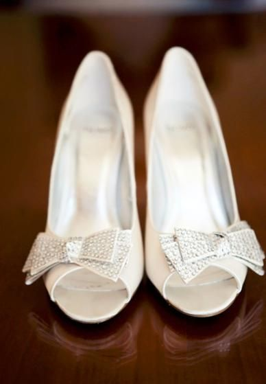 Sparkly bow peep-toes (Photo by Deep Grey Photography)