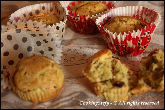 muffin zucchine e cioccolato al sale