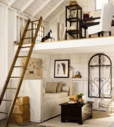loft area decorating pictures | Pottery Barn Label Carving a loft out of existing space is a great way ...