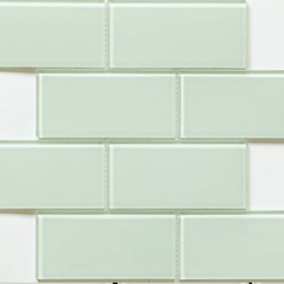 Martini Mosaic 'Blocco' Mint Glass 14.75 x 11.75-inch Tile Sheets (Set of 10 sheets) $10.60/sq ft