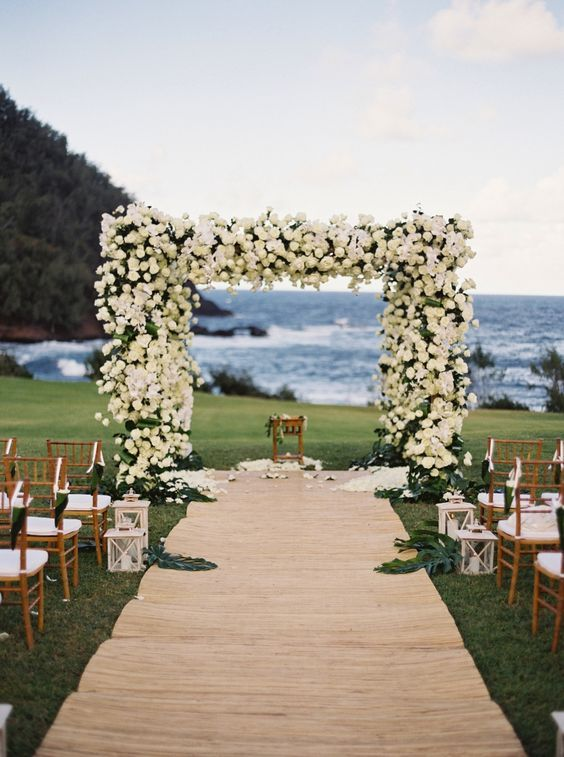 19 Charming Beach And Coastal Wedding Arch Ideas For 2018 With