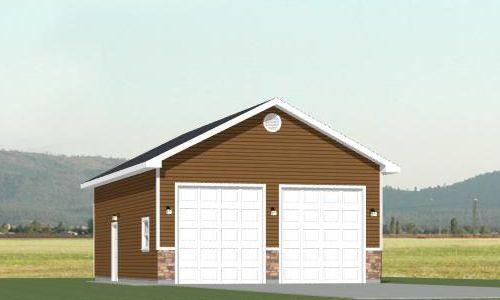 24x36 2 Car Garage 24x36g27f 864 Sq Ft Garage Plans Detached Garage Designs Garage Plans Detached