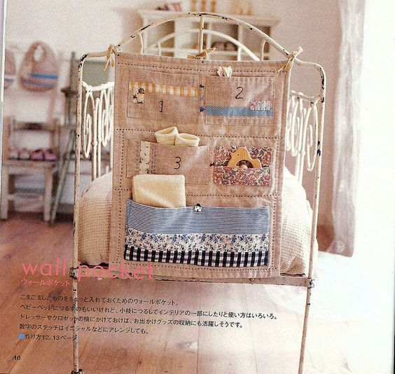 zakka wall pocket: Craft, School, Cute Ideas, Sewing Supplies, Tutorial, Girls Stuff, Fabric, Storage Ideas
