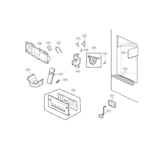 dispenser parts diagram  u0026 parts list for model 79572053110