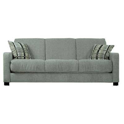 Convert-A-Couch Chenille Sleeper Sofa in Gray - $380