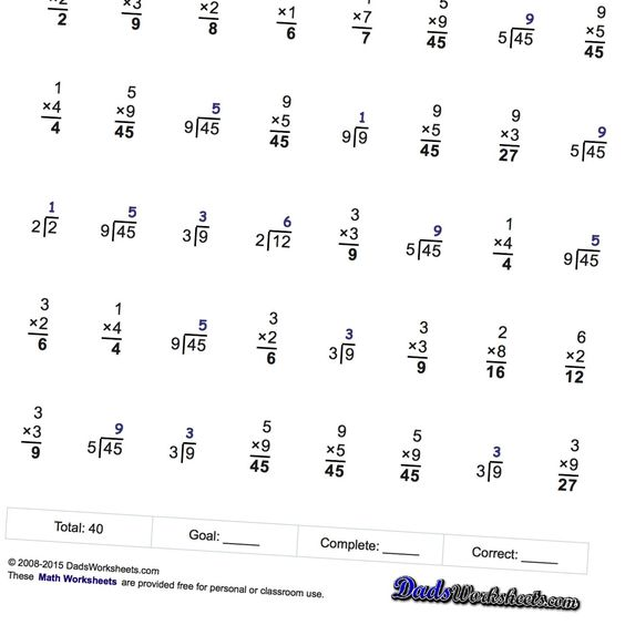 math worksheet : multiplication division fact family math worksheets that are  : One Minute Math Worksheets