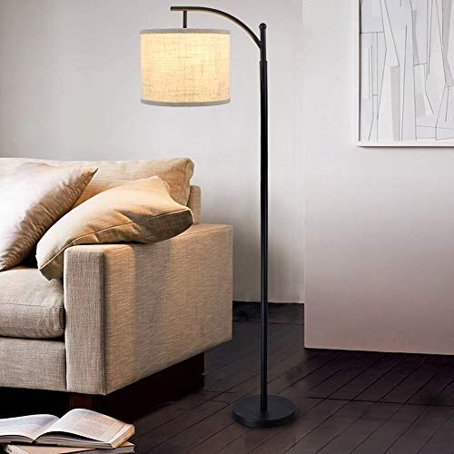 Dllt Modern Led Floor Lamp Standing Floor Lamp With Hanging Lamp Shade 8w Arc Reading Tall Floor Lamp For Living Room Lavorist In 2021 Standing Lamp Living Room Hanging Floor
