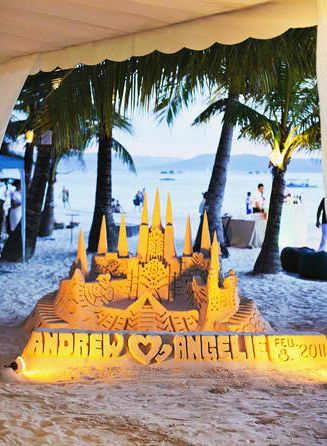 sand castle -perfect for beach weddings :):