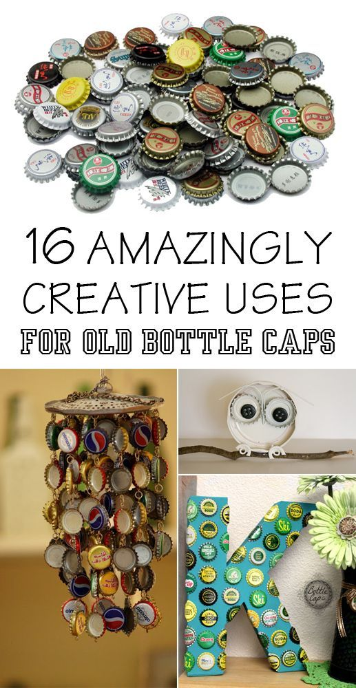 Old bottles bottle caps and cap d 39 agde on pinterest for Creative ideas with bottle caps