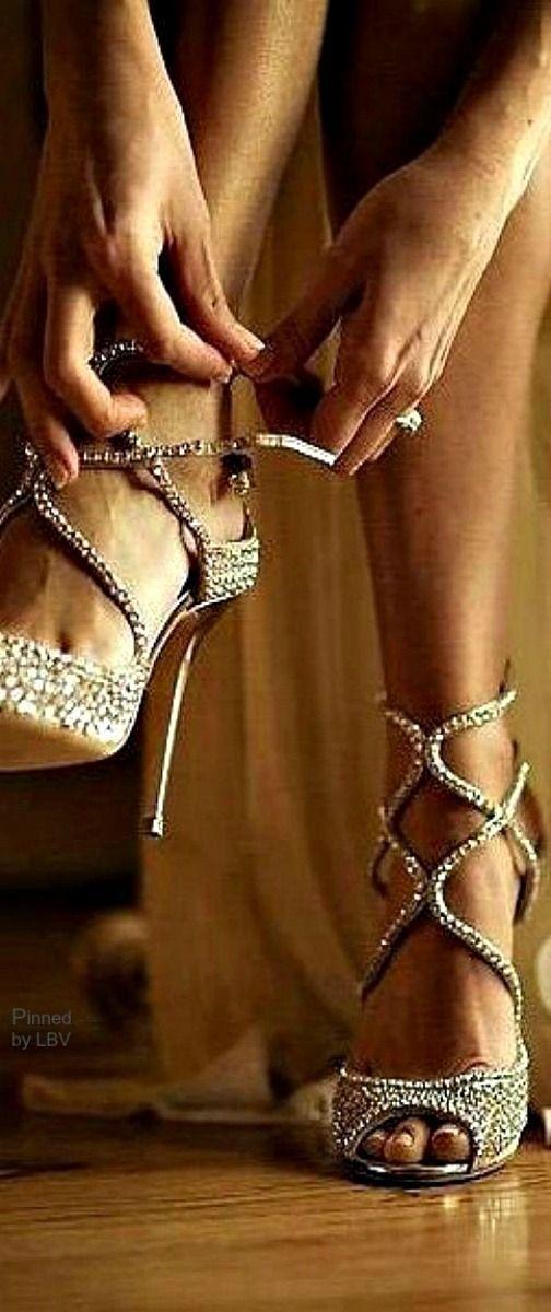 Stunning silver heels: