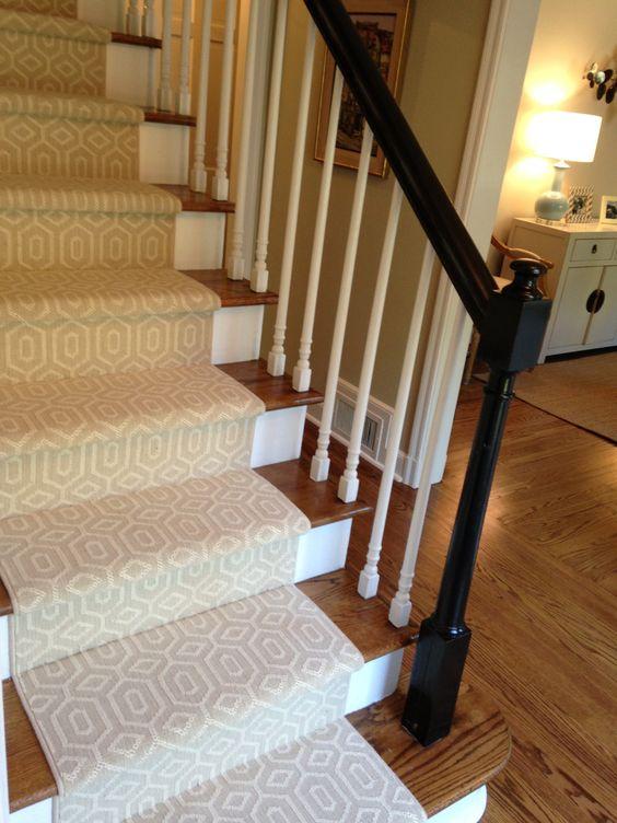 Carpet For Stairs Banister Rails And Carpet Runner On