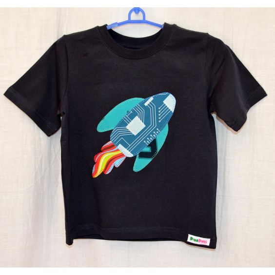 Boys Rocket Tshirt on Handmade Australia