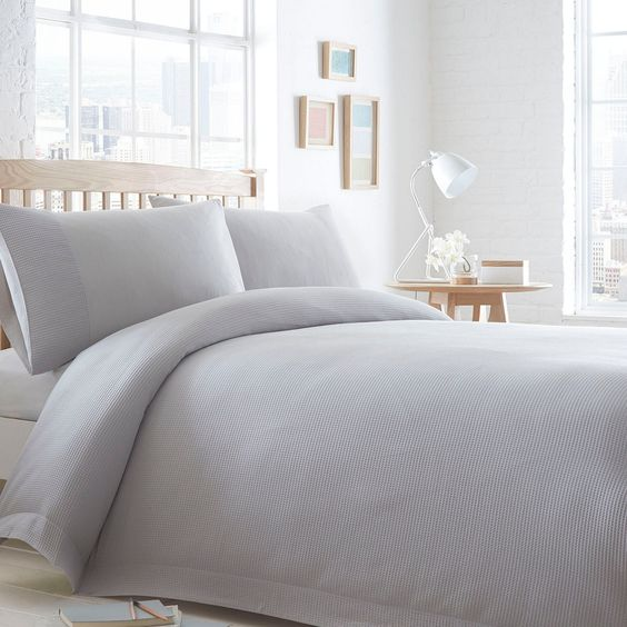 This bedding set from The Collection introduces simple, understated elegance to the modern bedroom. In grey, it is textured and is ultra-soft in pure cotton.